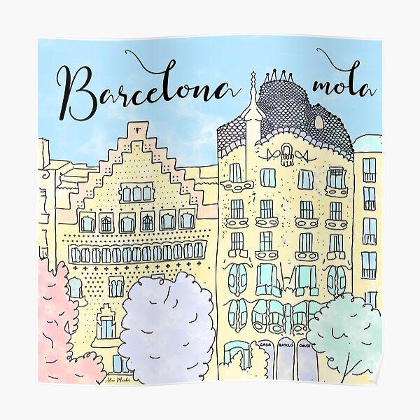 Barcelona mola by Alice Monber Poster