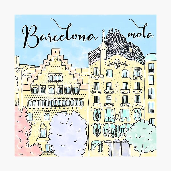 Barcelona mola by Alice Monber Photographic Print
