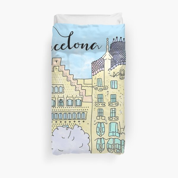 Barcelona mola by Alice Monber Duvet Cover