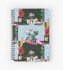 Happy English Garden by hyndussidart Spiral Notebook