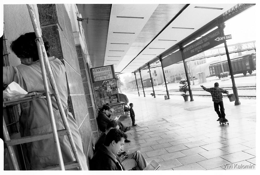 Athens Railway Station VII by Vivi Kalomiri