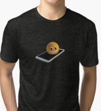 Handy mit Emoticon Vintage T-Shirt
