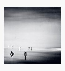 Strangers on a Beach - Abstract seascape Photographic Print