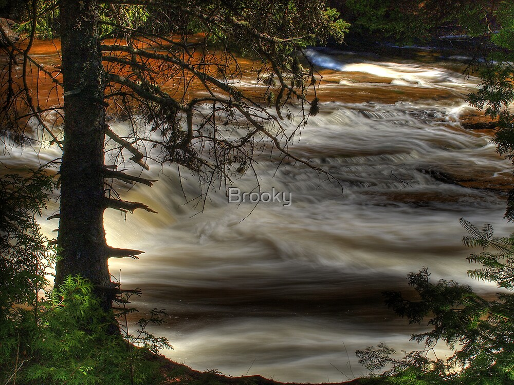 Lake Superior Stream by Brooky