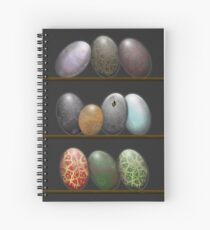 Shelf full of Dragon eggs Spiral Notebook