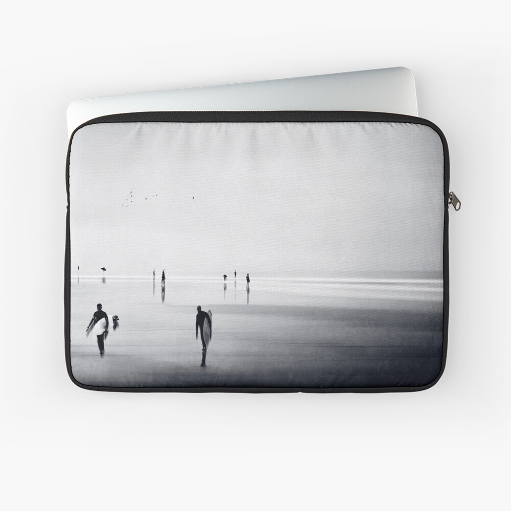 Strangers on a Beach - Abstract seascape Laptop Sleeve
