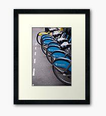 Boris Bikes Framed Print