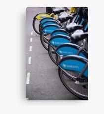 Boris Bikes Canvas Print