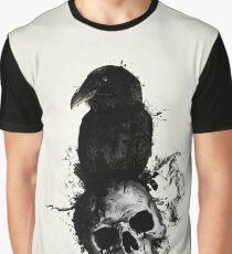 Camiseta gráfica Cuervo y cráneo