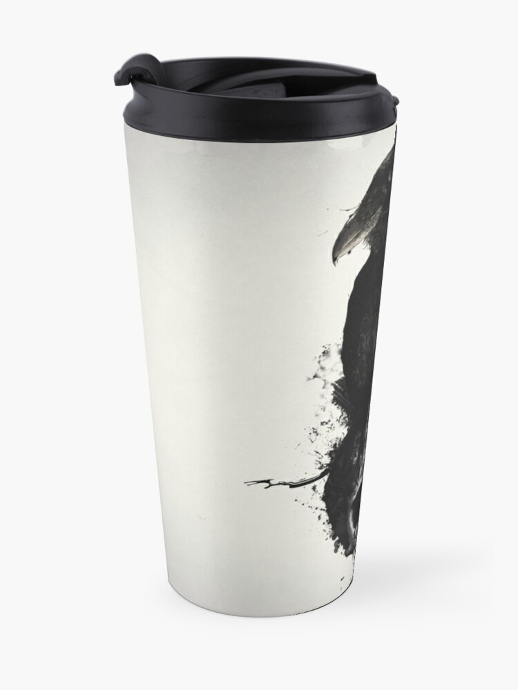 Alternate view of Raven and Skull Travel Mug