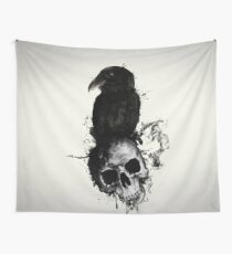 Raven and Skull Wall Tapestry