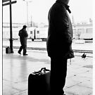 Athens Railway Station X by Vivi Kalomiri