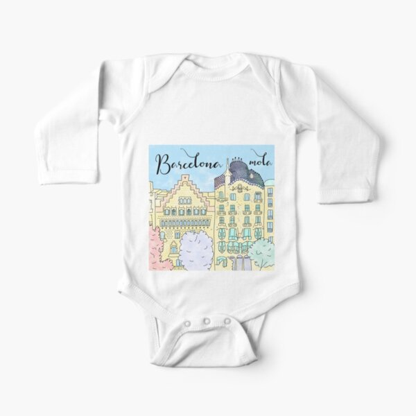 Barcelona mola by Alice Monber Long Sleeve Baby One-Piece