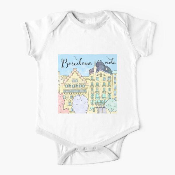 Barcelona mola by Alice Monber Short Sleeve Baby One-Piece