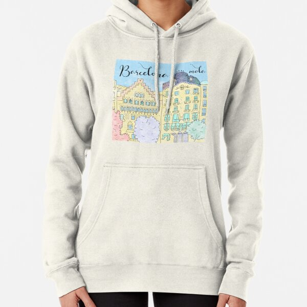 Barcelona mola by Alice Monber Pullover Hoodie