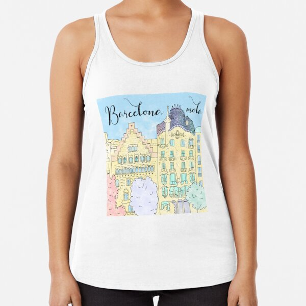Barcelona mola by Alice Monber Racerback Tank Top