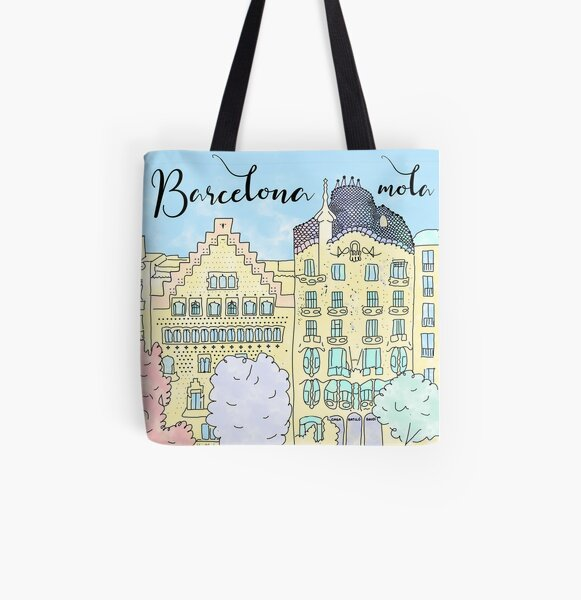 Barcelona mola by Alice Monber All Over Print Tote Bag