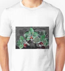 flowers on grey pattern Unisex T-Shirt