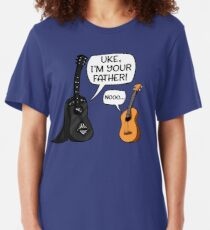 Uke I Am Your Father Funny Guitar And Ukulele Parody Slim Fit T-Shirt