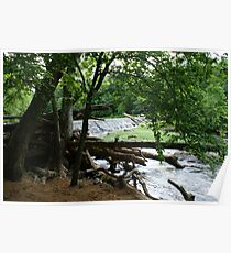 Dam on Eno River Poster