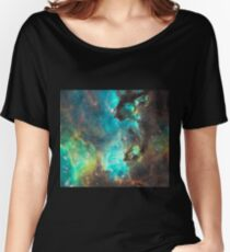 Green Galaxy Women's Relaxed Fit T-Shirt