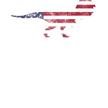 Donald Trump 4th July Shirt - Funny Dinosaur Tshirt  by KhushbooLohia