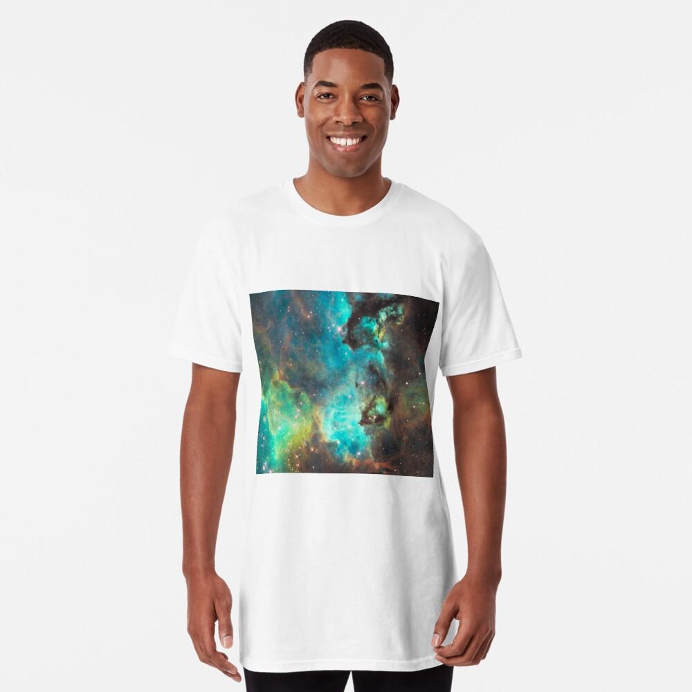 Green Galaxy Long T-Shirt