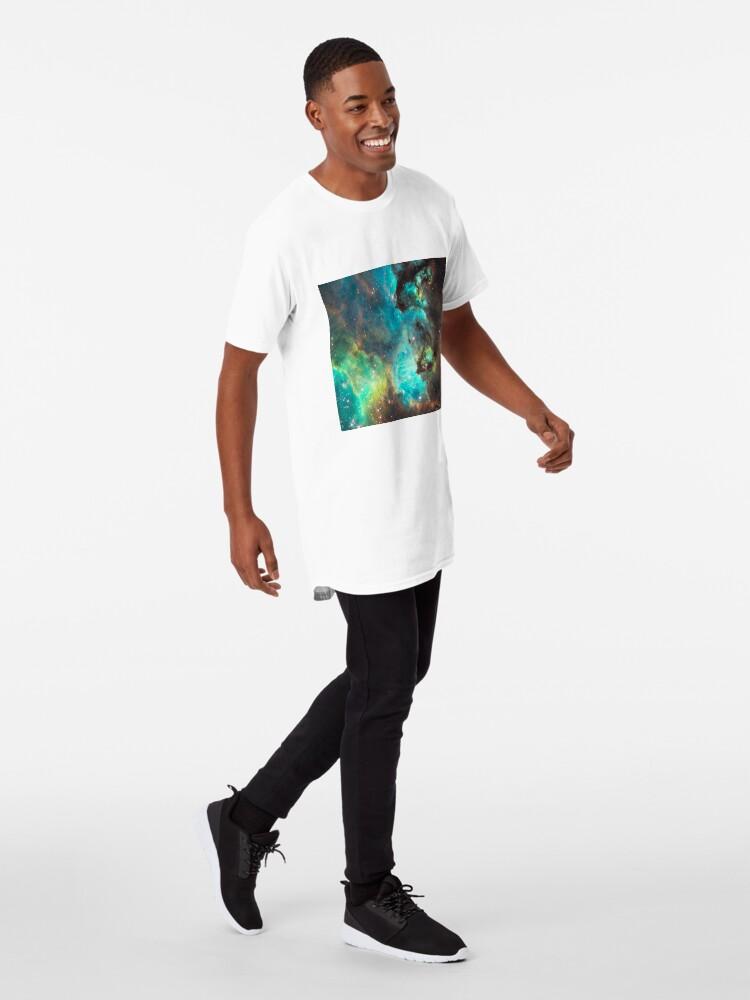 Alternate view of Green Galaxy Long T-Shirt