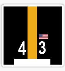 Steelers Helmet Sticker