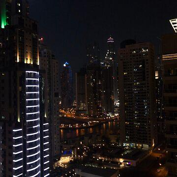 Dubai Marina Skyline by AngelaFV