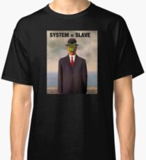 Renee Magritte son of man, system slave tshirt Classic T-Shirt