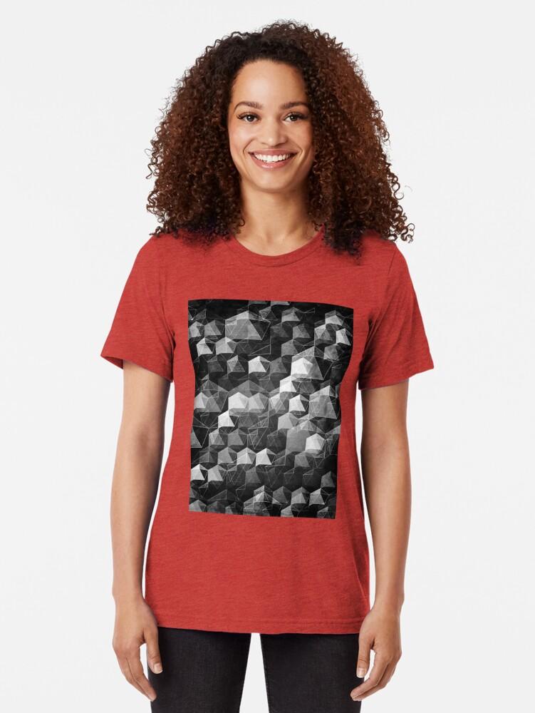 Alternate view of AS THE CURTAIN FALLS (MONOCHROME) Tri-blend T-Shirt