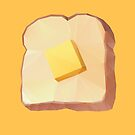 Toast with Butter polygon art by polymolystudio