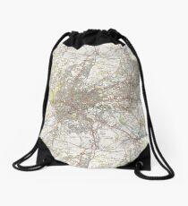 Map of Bristol - UK (1946) Drawstring Bag