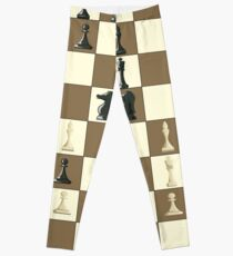 Chess pieces for a chess tournament Leggings