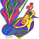 Colourful Bird by lwcomic