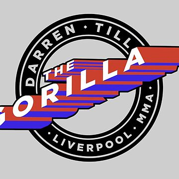 """Darren Till """"The Gorilla"""" Liverpool MMA - Red/Blue by Undeniable"""