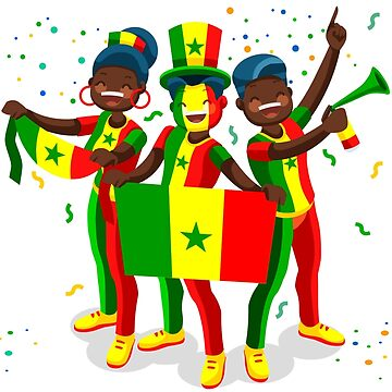 Senegal Flag Football Fans by aurielaki