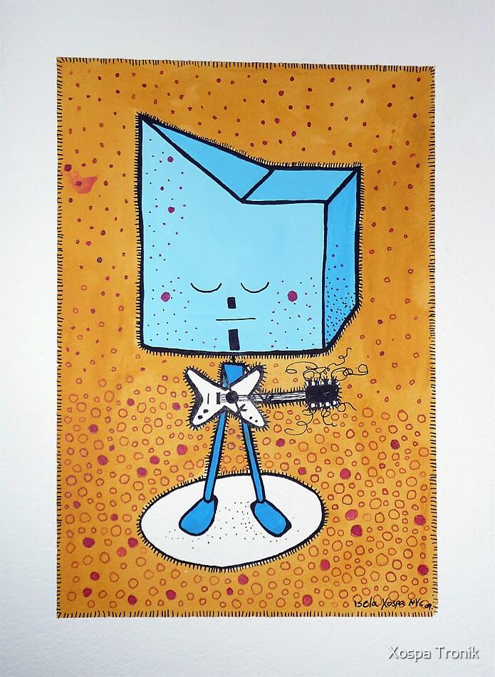 Tronik palying guitar by Xospa Tronik