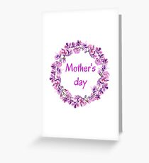 Mother Day Flowers Greeting Card