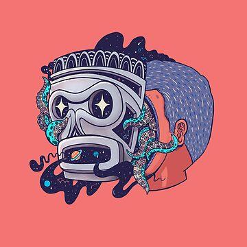 Máscara taína Cósmica by Madkobra