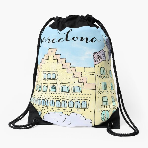 Barcelona mola by Alice Monber Drawstring Bag