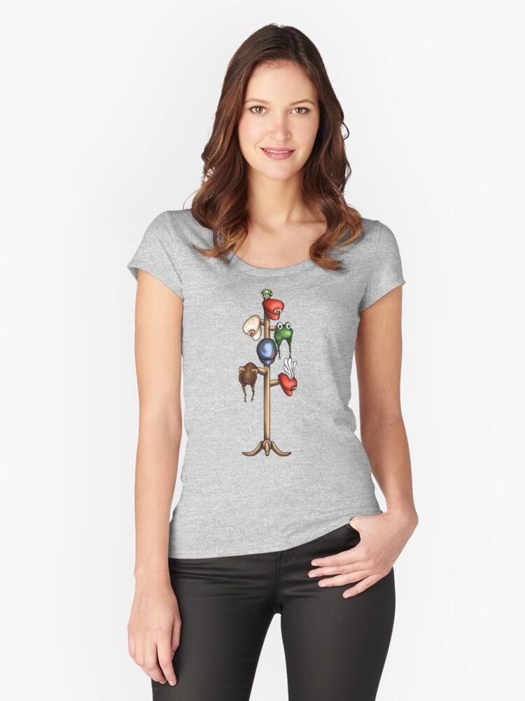 Mario Hat Rack Women's Fitted Scoop T-Shirt Front