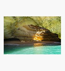 Jewel Glow - Iconic Algar de Benagil Sea Cave in Brilliant Gemstone Hues Photographic Print