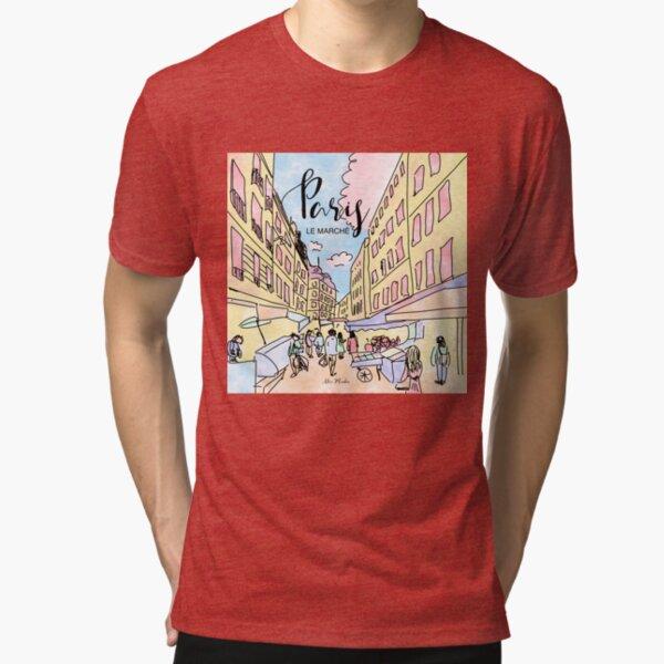 Paris I left by Alice Monber Tri-blend T-Shirt