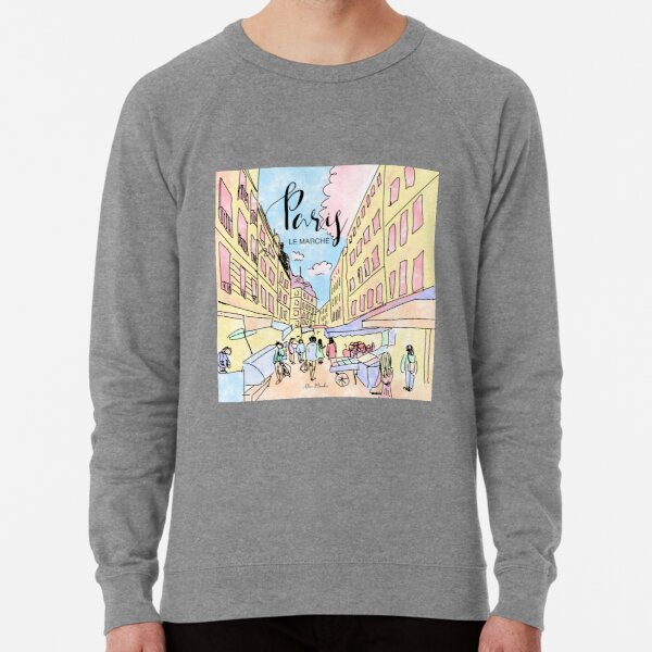 Paris I left by Alice Monber Lightweight Sweatshirt
