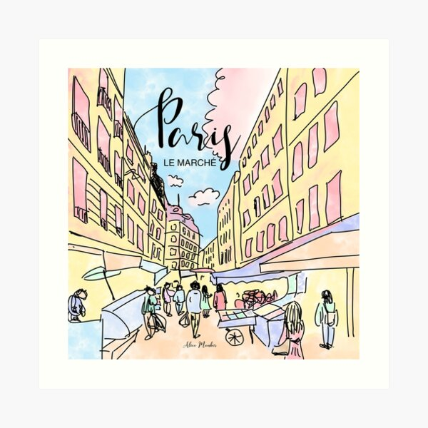 Paris I left by Alice Monber Art Print