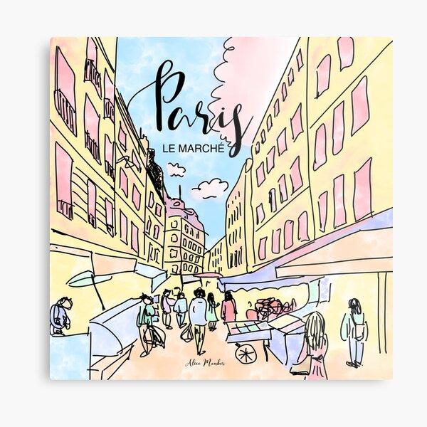 Paris I left by Alice Monber Metal Print