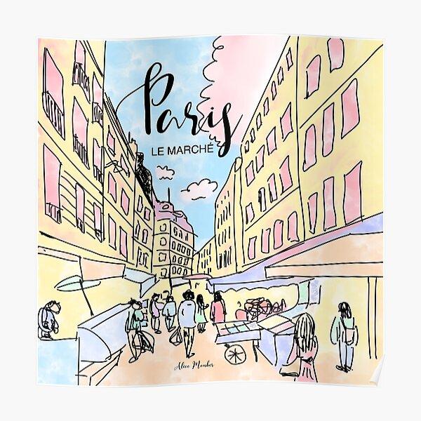 Paris I left by Alice Monber Poster