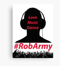 RobARMY Love, Music, Dance Canvas Print